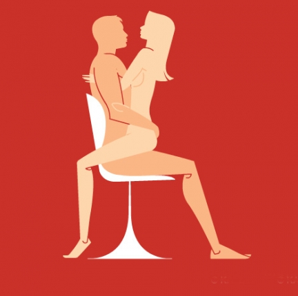 Porn positions on chair, naked girl having an orgasm animation
